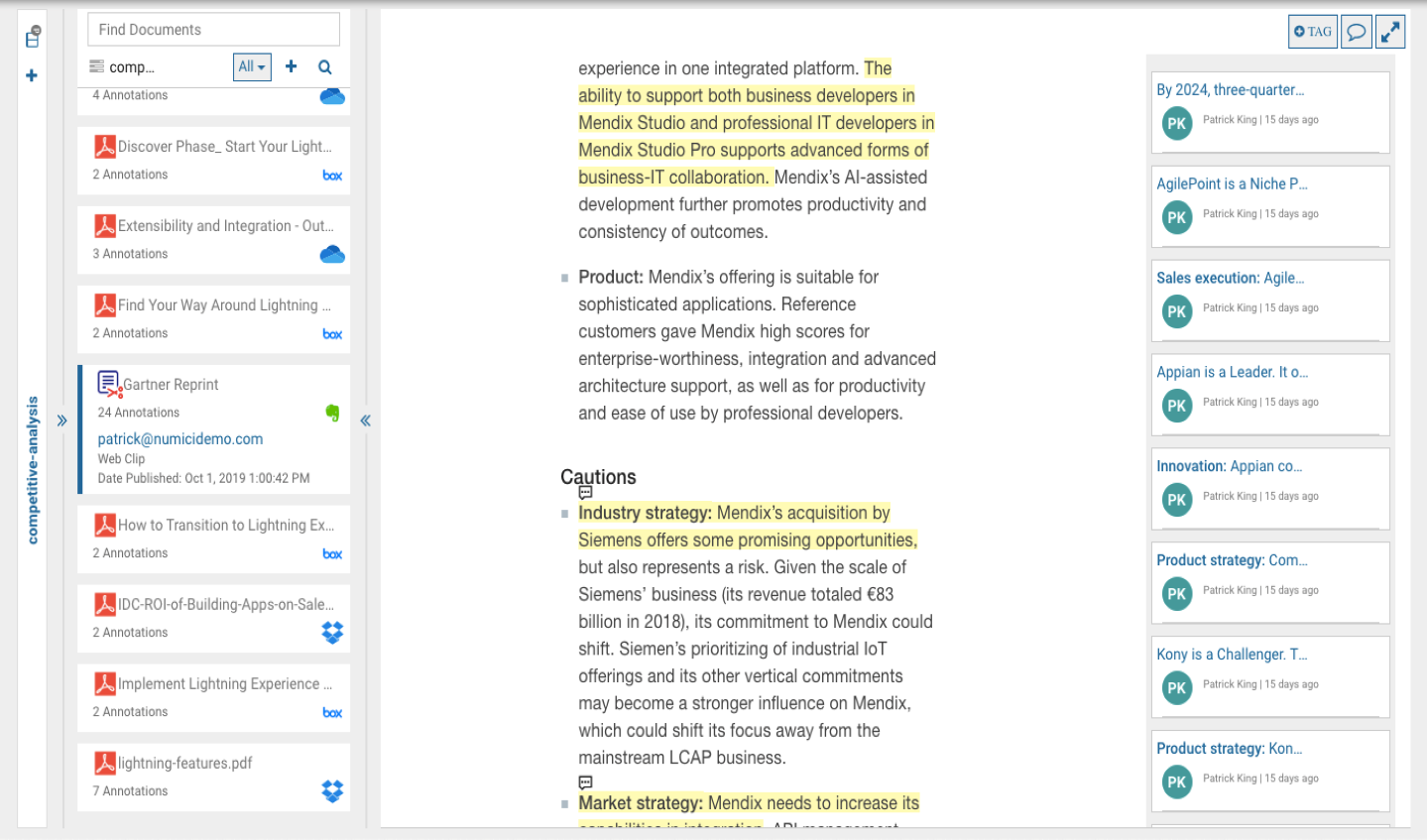 Product - Annotate web pages and documents in a uniform way - annotate documents